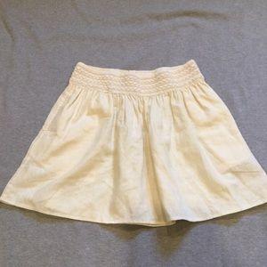NWT J. Crew Factory linen blend skirt
